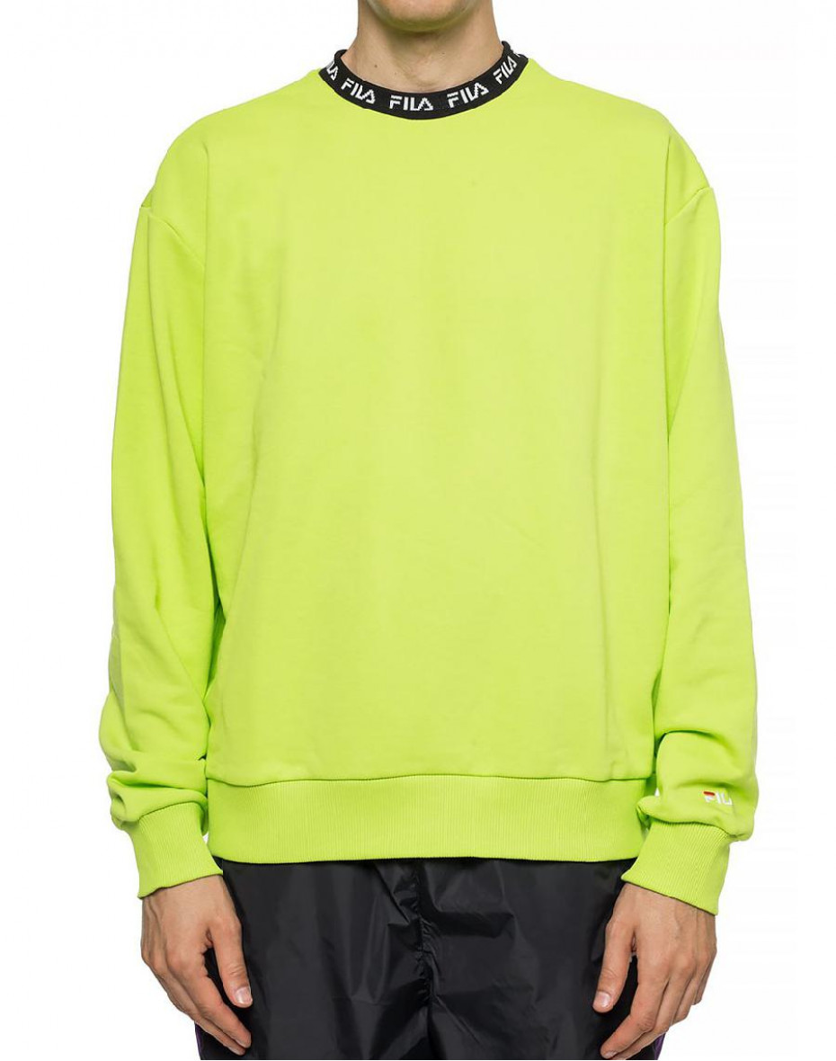 Felpa Toshiro con logo - Verde acido