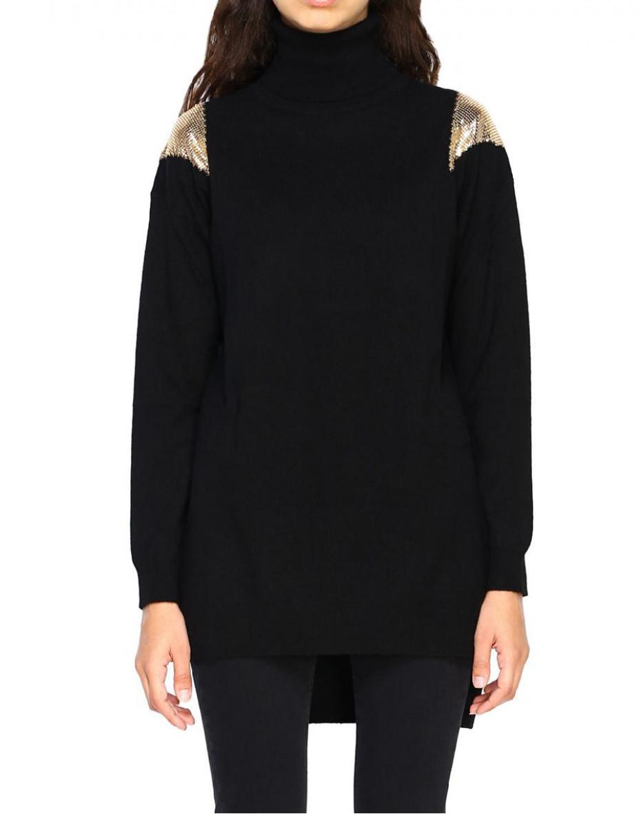 Armeno maxi pullover - Nero