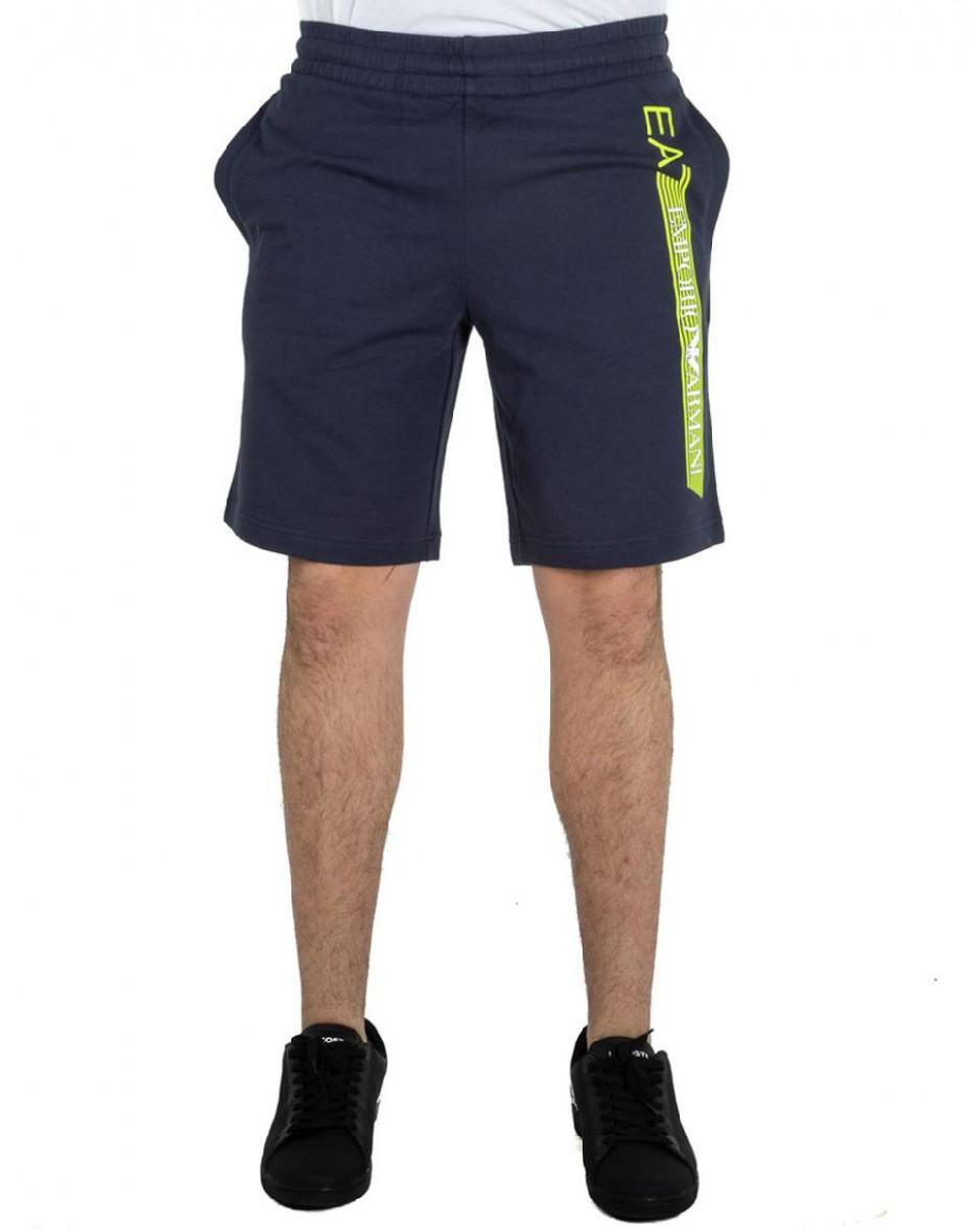 Shorts con logo metal - Blu
