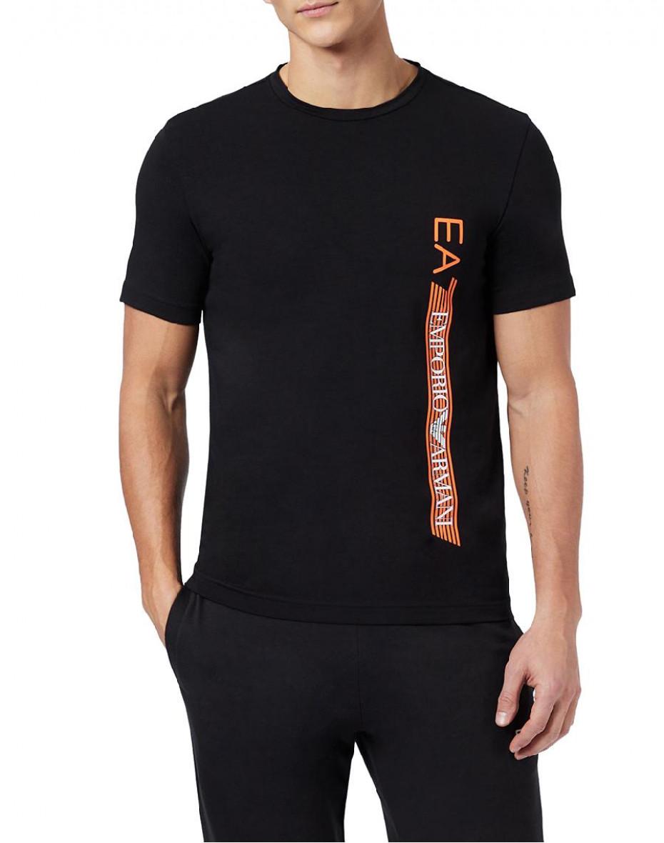 T-shirt con stampa metallizzata - Nero