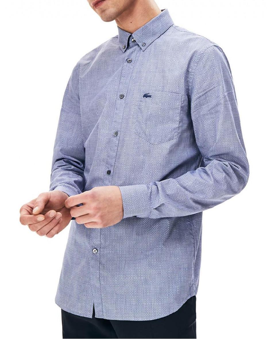 Camicia stampata - Azzurro