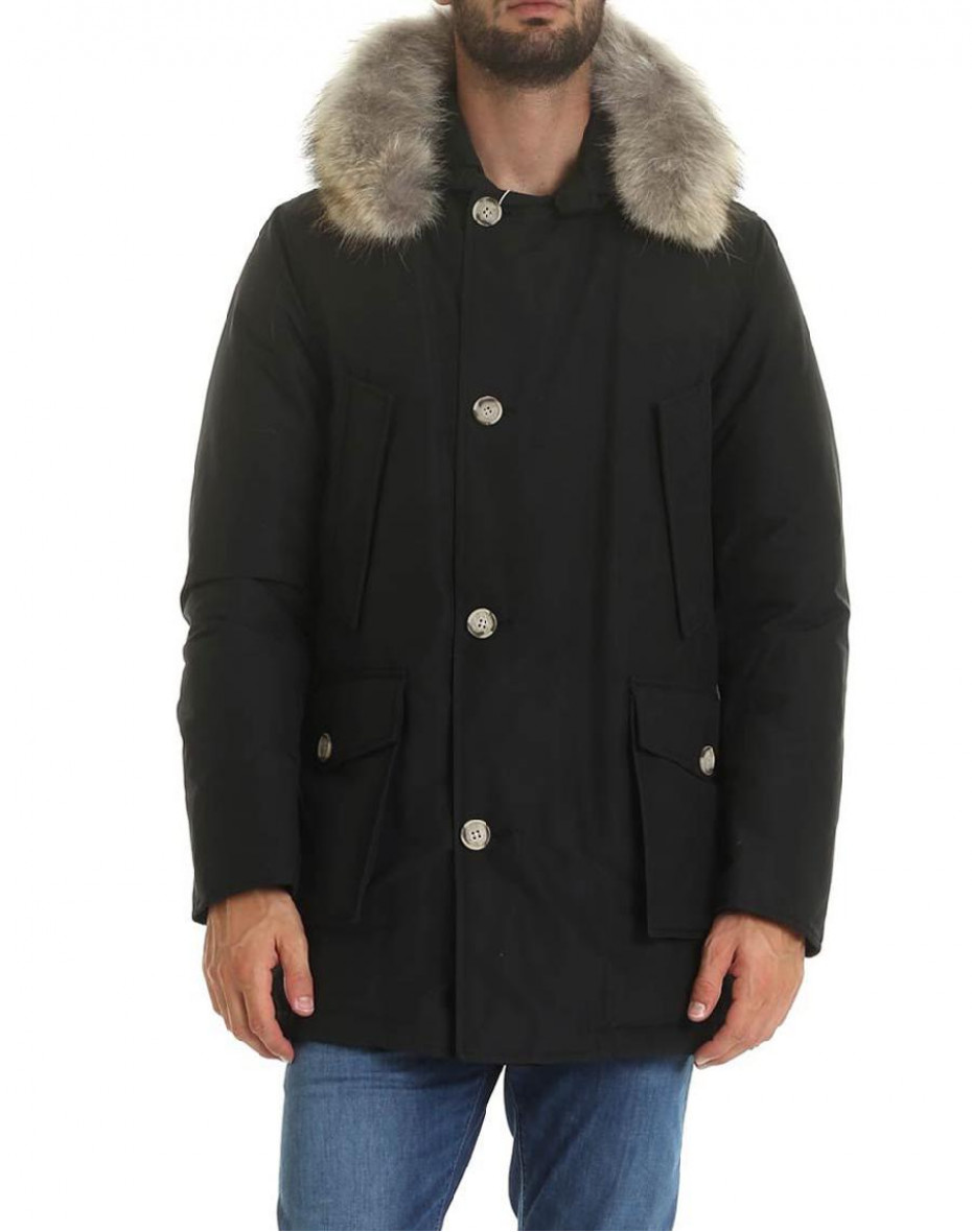 Artic parka con pelliccia removibile - Nero