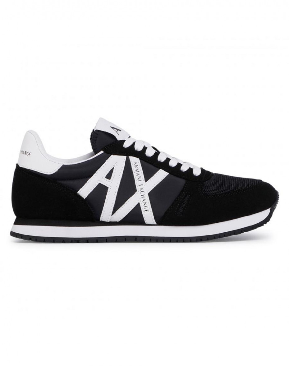 Sneakers con logo in contrasto - Nero