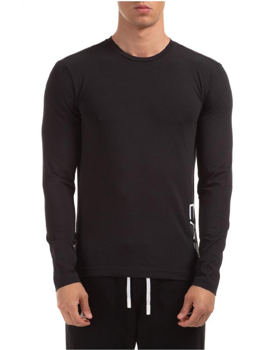 T-shirt girocollo con logo - Nero