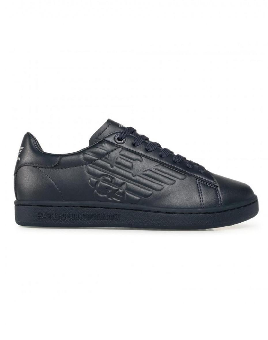 Sneakers con logo EA7 - Blu