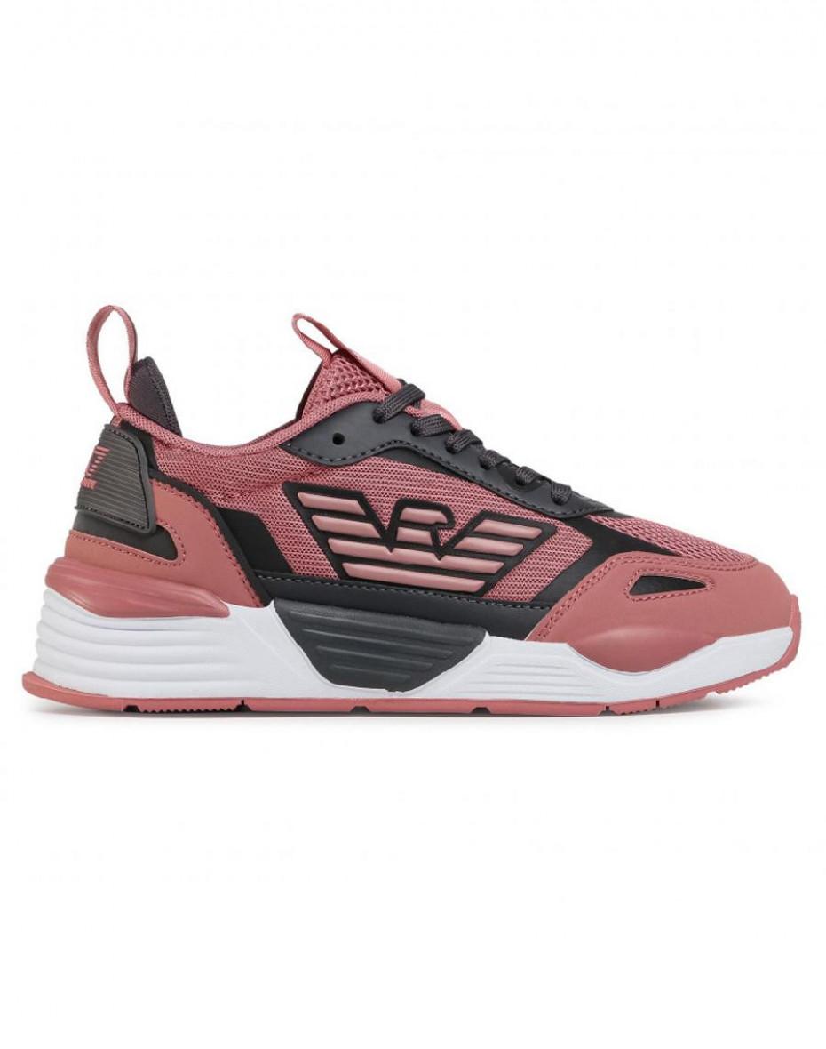 Sneakers con design color-block - Rosa