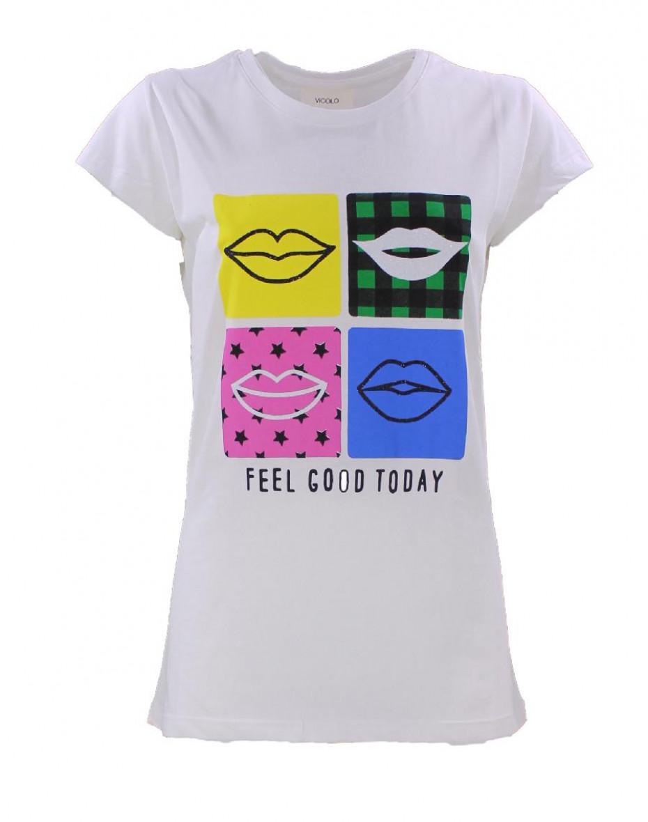 T-Shirt Feel Good - Bianco