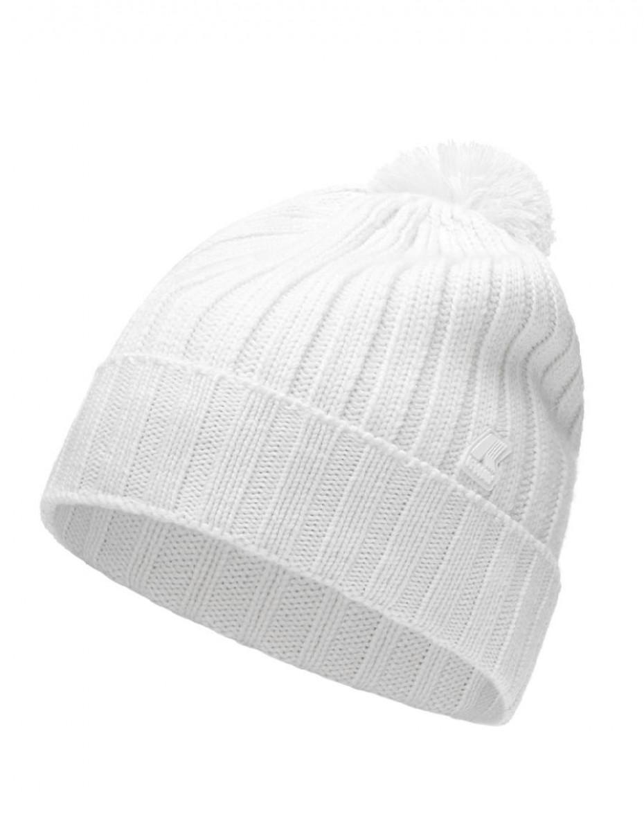 Cappello Vincienne con pon pon - Bianco