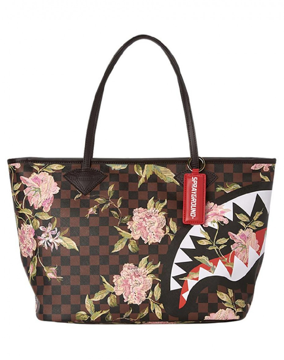 shopper shark flower - Marrone
