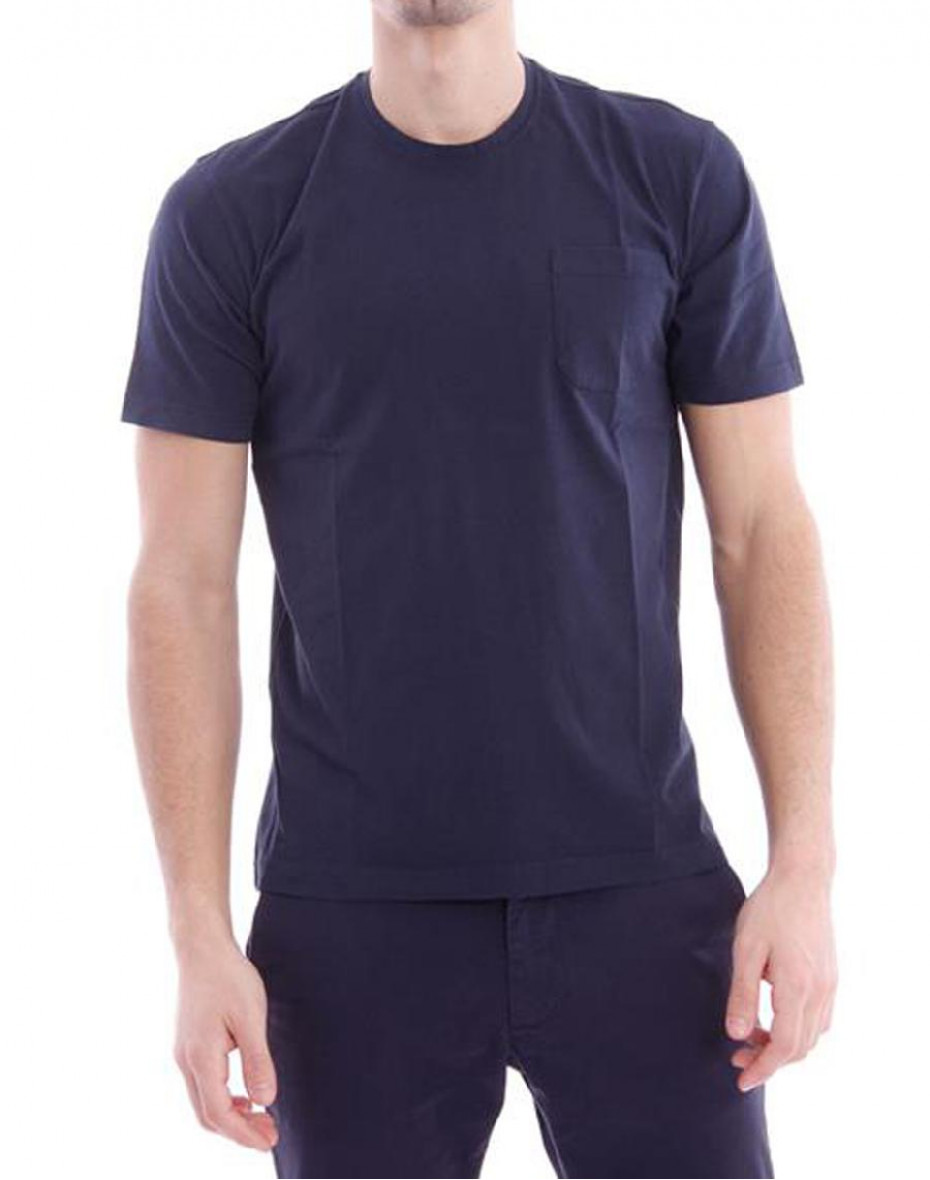 T-shirt con taschino - Navy