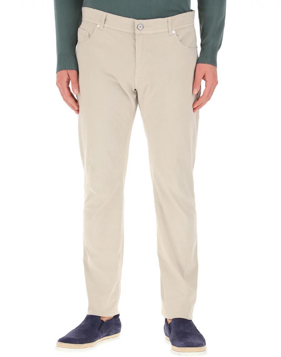 Pantaloni in cotone - Beige