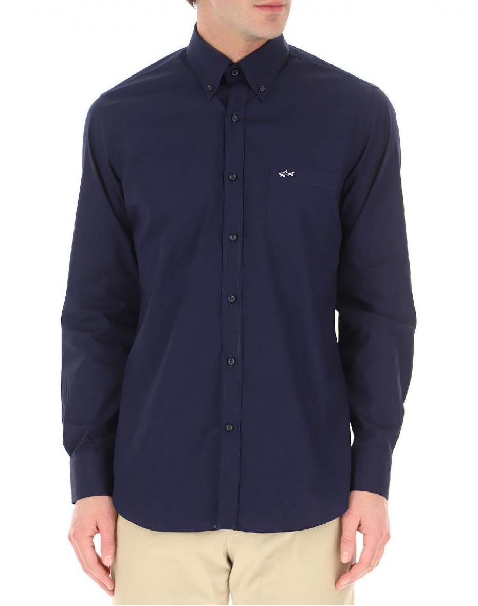 Camicia Paul & Shark in cotone - Blu